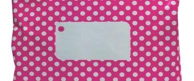Hot Pink Divinely Different Mailing Bag, Hot Pink, Mailing Bag, divinely different, polka dot, polka dot mailing bag