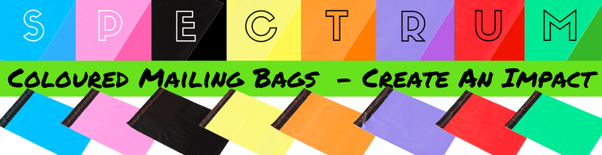 Spectrum Coloured Mailing Bags Banner