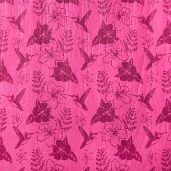 Cerise Pink Printed Hummingbird patterned tissue paper