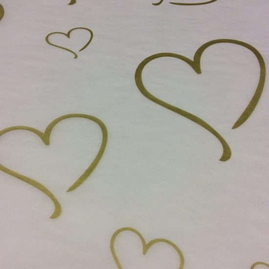 Printed Gold Heart Tissue Paper
