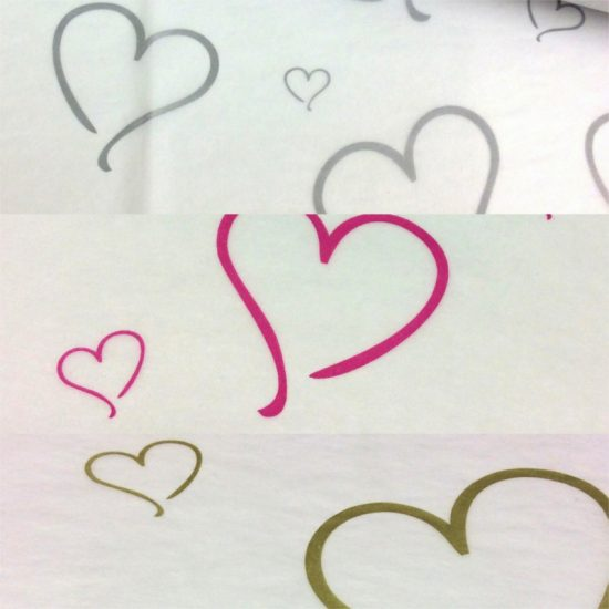 Printed Heart Tissue Paper