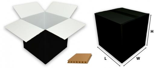 0201 single wall coloured black cardboard boxes