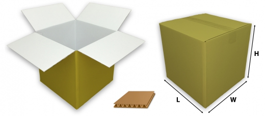 0201 single wall coloured gold cardboard boxes