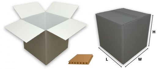 0201 single wall coloured silver cardboard boxes