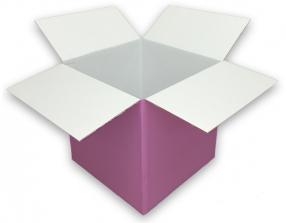 Coloured Pink Cardboard Box