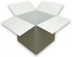 Coloured Silver Cardboard Box