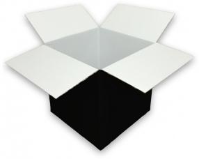 coloured 0201 single wall black cardboard boxes