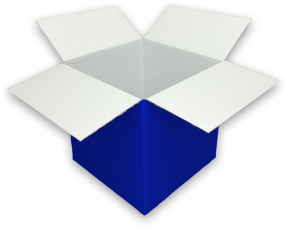 Coloured Blue Cardboard Box