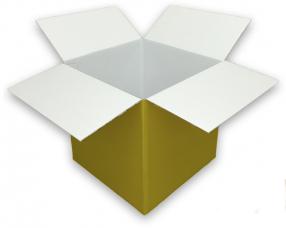 Coloured Gold Cardboard Box