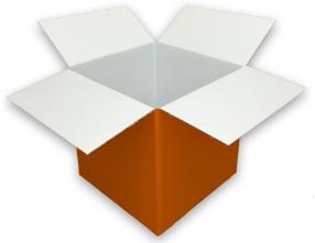 Coloured Orange Cardboard Box