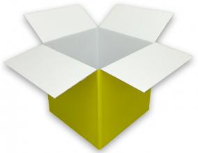 Coloured yellow Cardboard Box