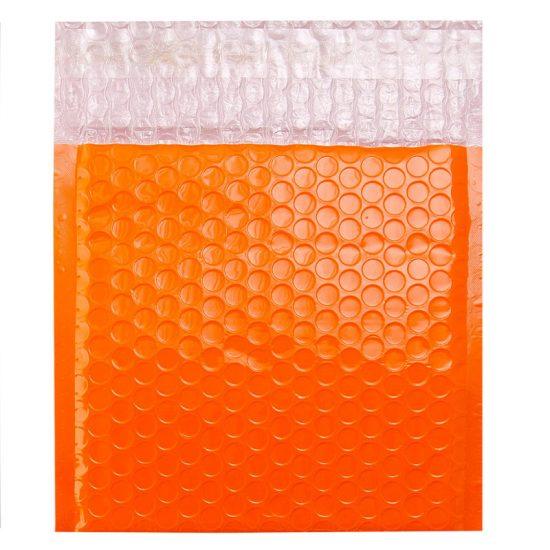 Orange Poly Gloss Bubble Bags