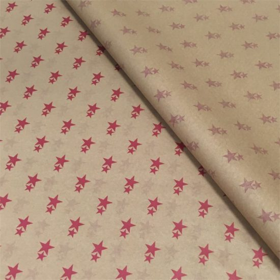 Red Star Printed Tissue Paper
