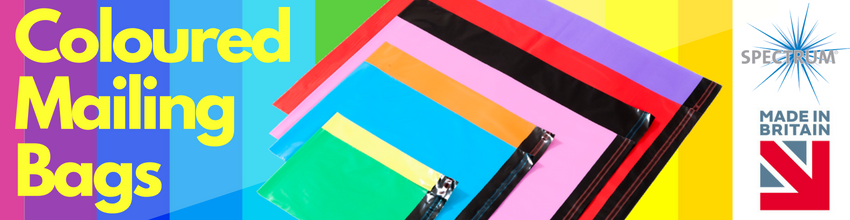 Spectrum Coloured Mailing Bags Website Banner